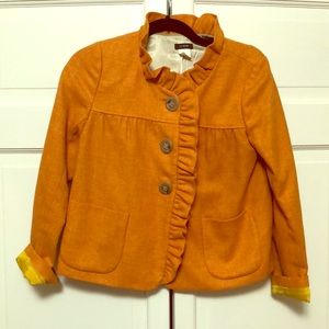 "J Crew orange wool ""blazer"". Worn twice."